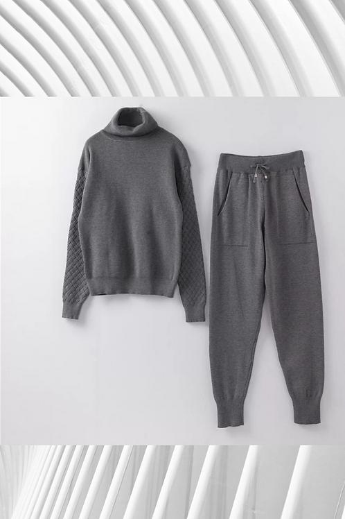 Knitted Tracksuit - Slim Leg