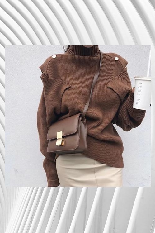 Cashmere/Cotton Mix Open at the shoulder