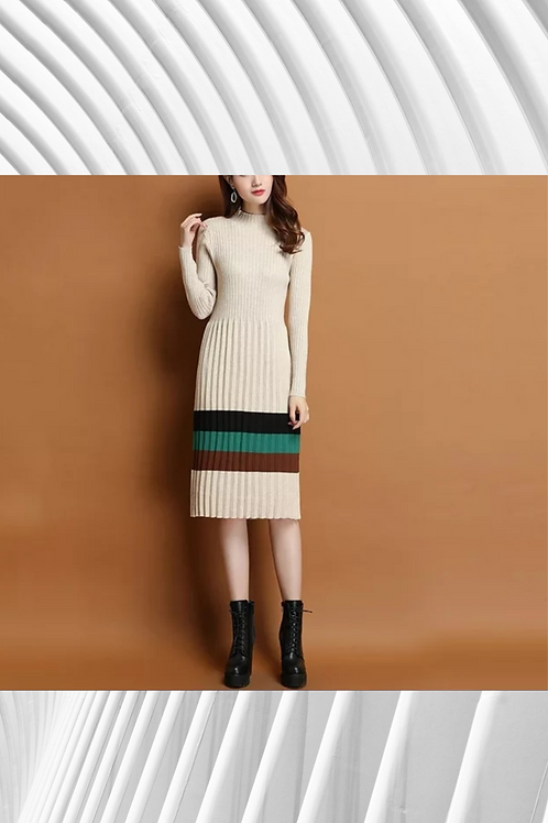 Cashmere Mix Knitted Dress - Spring