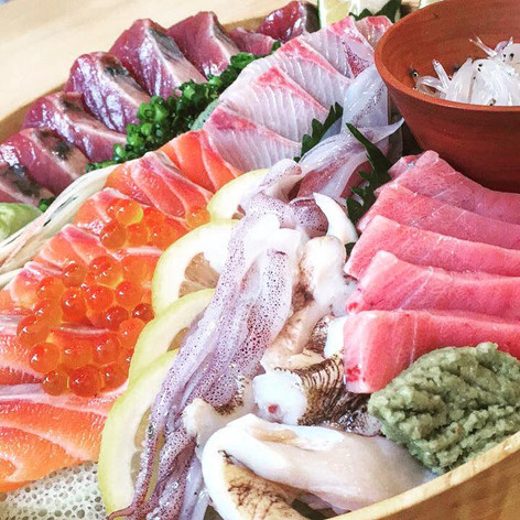 旬の刺身皿鉢