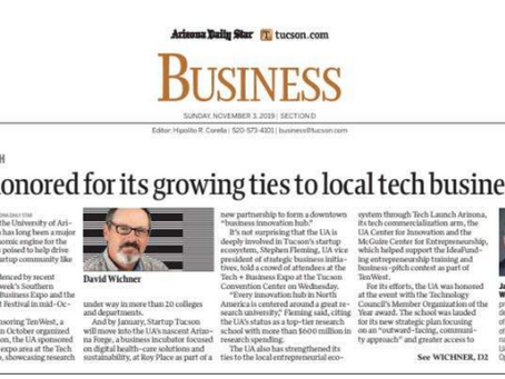 Tucson Tech: UA honored for growing ties to local tech businesses