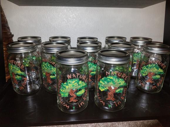 Lots of mason jars