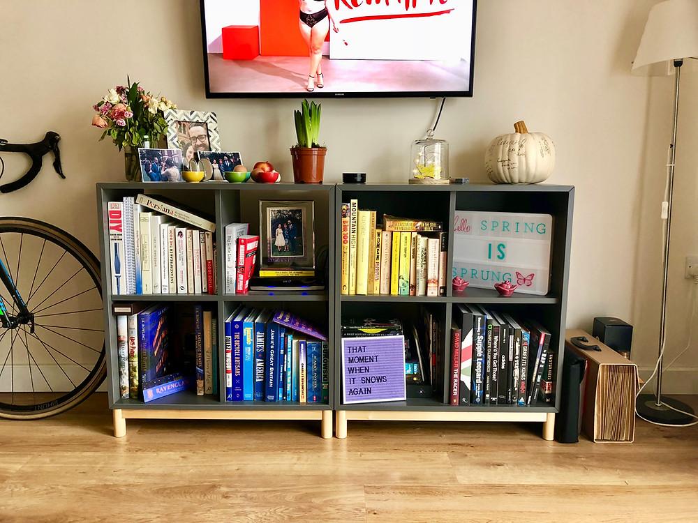 Bookshelves/mantle #bodypositive