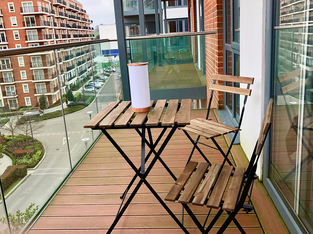 Balcony table and chairs from Ikea.