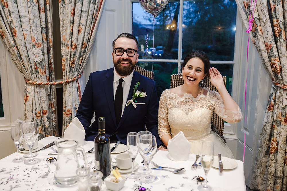 Mariam and Sean at table