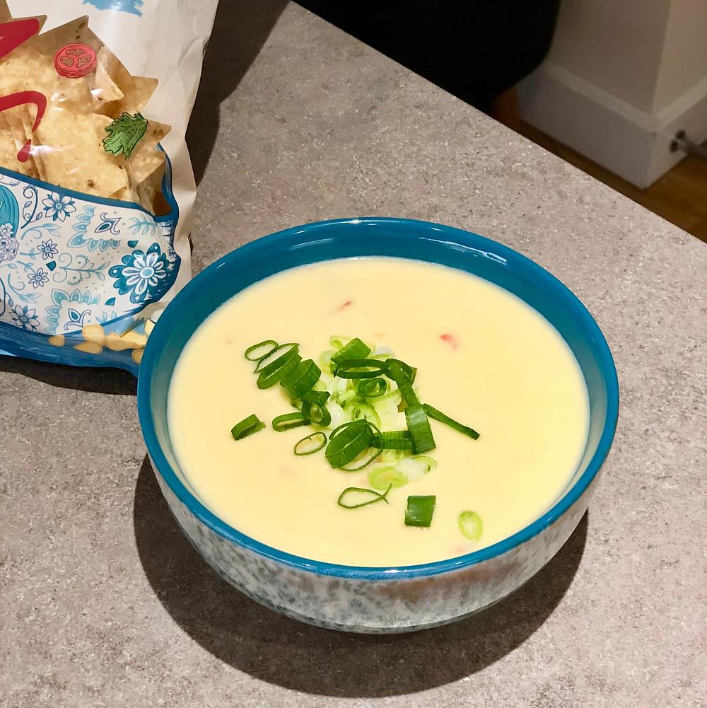 Bowl of chili con queso