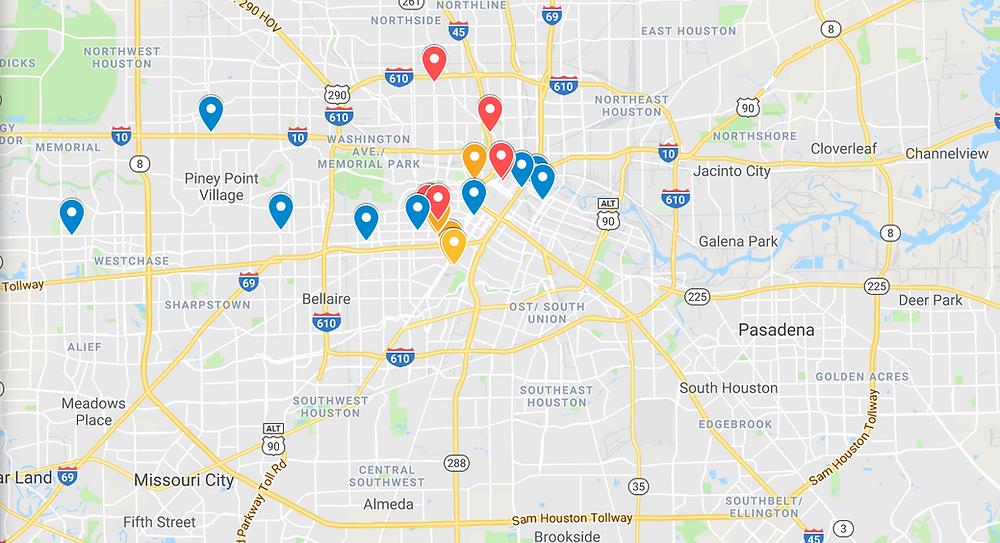 Favorite Places- Houston- Google maps