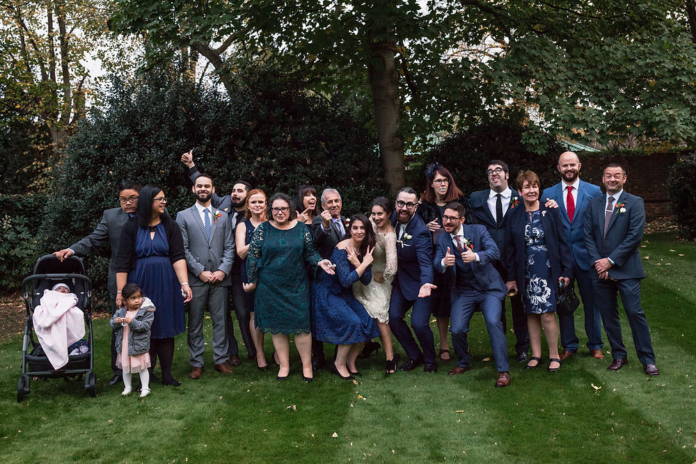 All wedding guests and wedding party