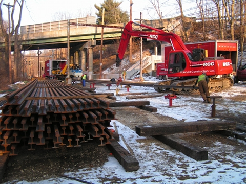 Freight Railroad Track Installation