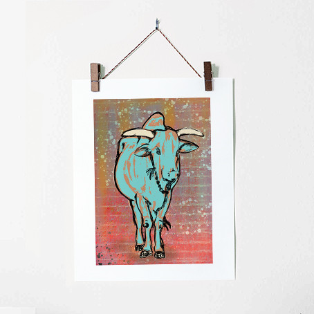 A Young Bull Illustration Rishikesh Indi