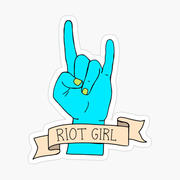 Riot Girl kiss cut radical feminist stic