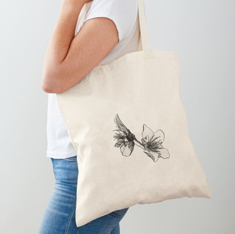Almond Blossom Cotton Tote Bag