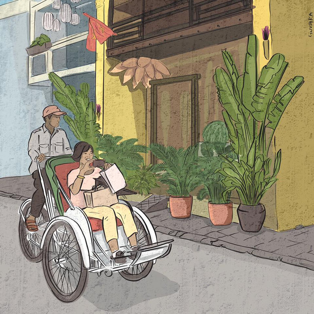 Bicycle taxi in Hoi An