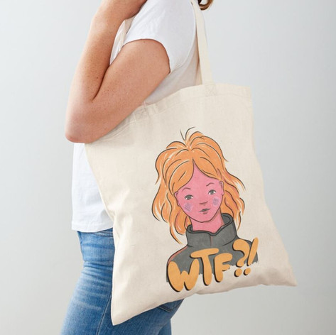 WTF Girl Cotton Tote Bag