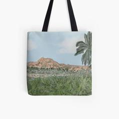 Hampi Watercolor Tote Bag