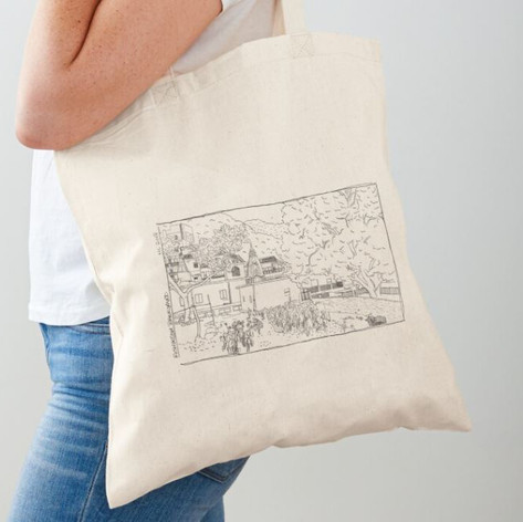 Rishikesh Backyard Cotton Tote Bag
