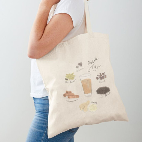 Masala Chai Cotton Tote Bag