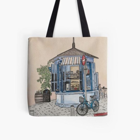 Kiosk in Tel Aviv Tote Bag