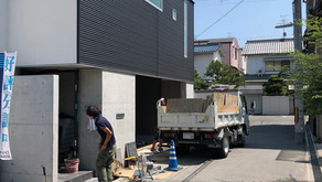 「東大阪の二世帯住宅」仕上げ工事