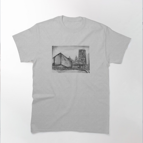 Liverpool Charcoal Sketch T-Shirt