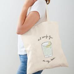 Gin & Tonic Cotton Tote Bag