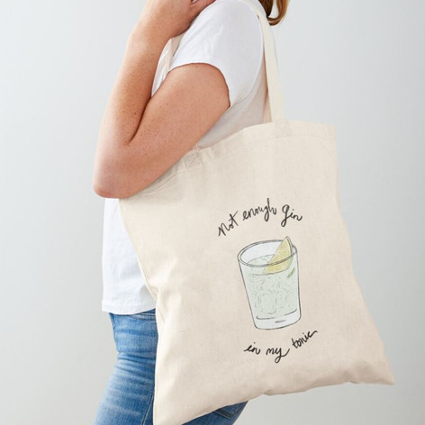 Gin & Tonic Cotton Tote Bag