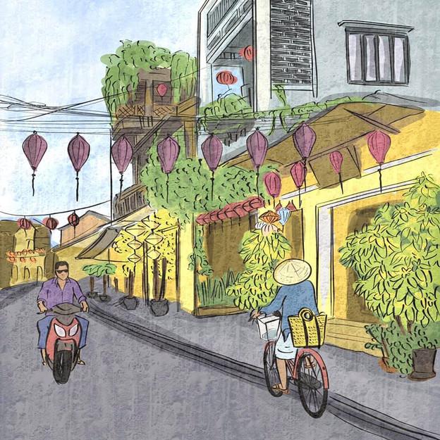 A typical Hoi An street