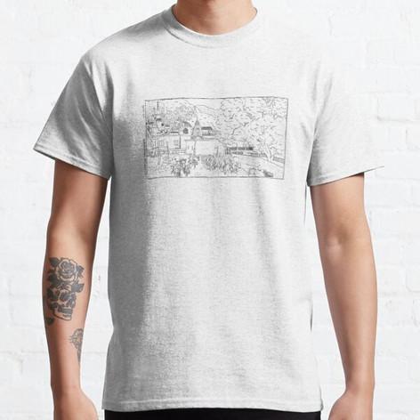 Rishikesh Backyard Black Ink T-Shirt
