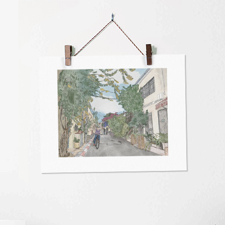 Neve Tzedek no. 4 - Urban Illustration T