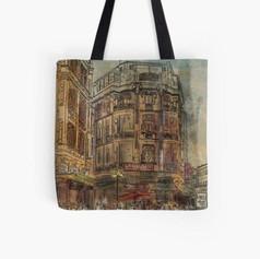 Istanbul urban sketch Tote Bag