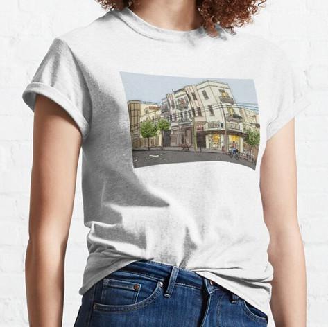 Tel Aviv Street Urban Sketch T-Shirt