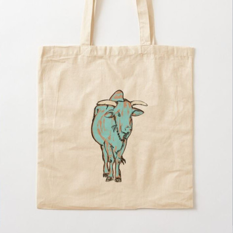 Young Bull Cotton Tote Bag
