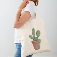 Cactus Cotton Tote Bag