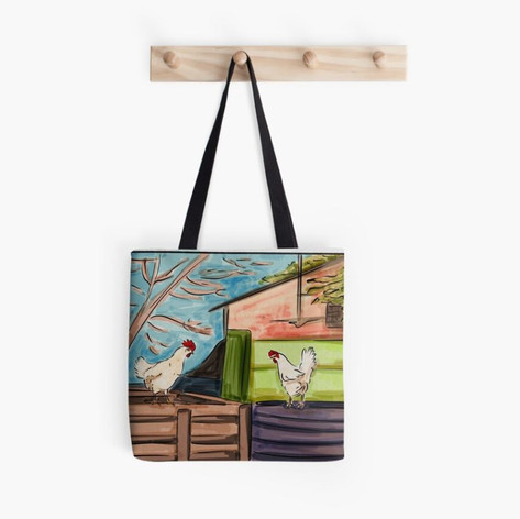 Chickens in the Backyard Tote Bag