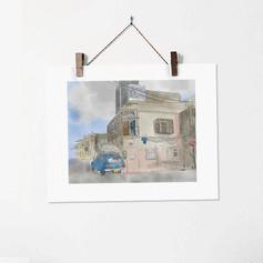 Neve Tzedek no.1 Tel Aviv Street Illustr