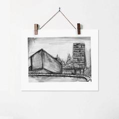 Liverpool Urban Sketch Street Illustrati