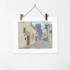 Neve Tzedek no. 3 - Urban Street Illustr