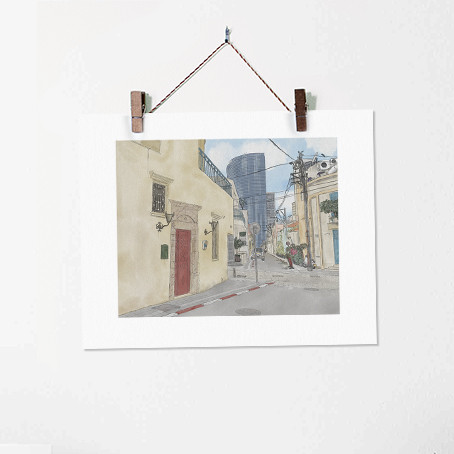 Neve Tzedek no. 3 - Urban Street Illustr