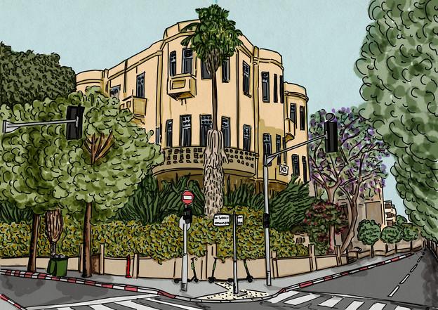 Rothschild Blv. in Tel Aviv.