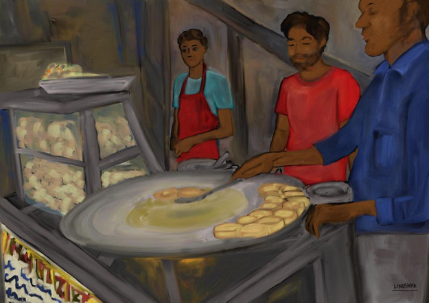 Aloo Tikki Chaat stall