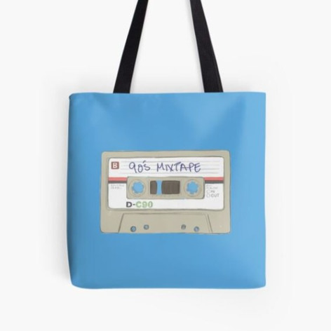 90's MixTape Tote Bag