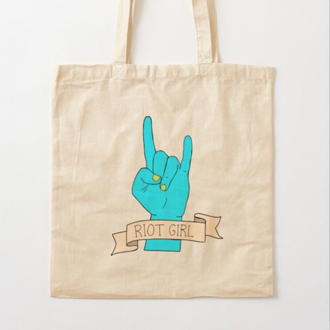 Riot Girl Cotton Tote Bag