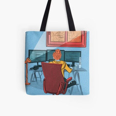 Working From Home Tote Bag