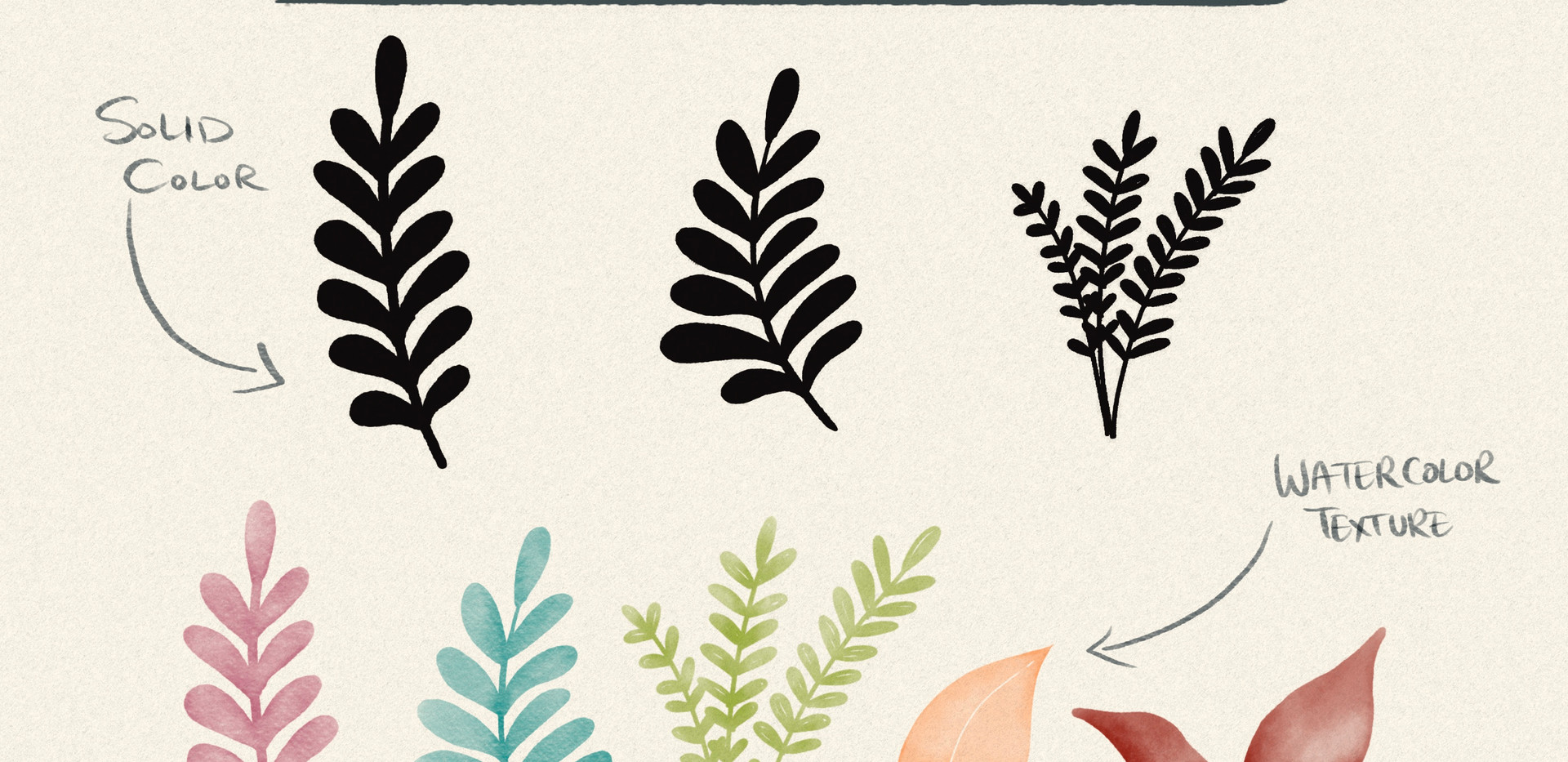 Stamp Leaf brushes for Procreate