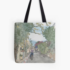 Neve Tzedek Street Tote Bag