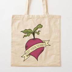 Eat Your Veggies Cotton Tote Bag