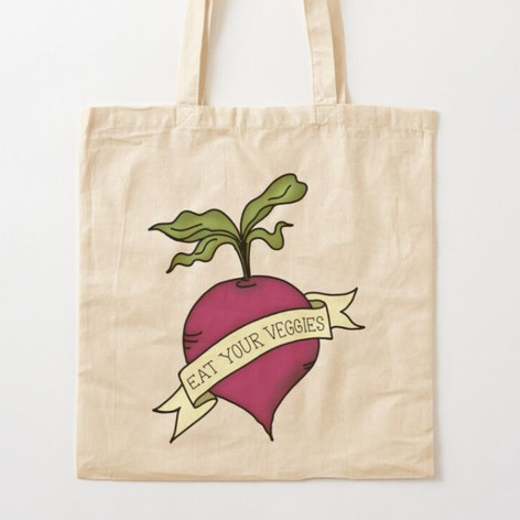 Eat Your Veggies Cotton Tote Bag
