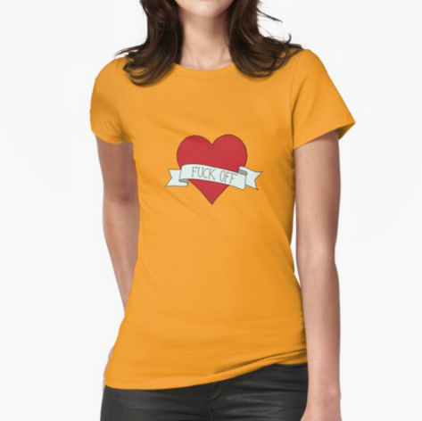 Fuck Off Classic Heart T-Shirt