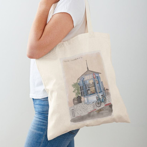 Tel Aviv Kiosk Cotton Tote Bag