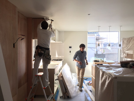 堺の家5/キッチン工事
